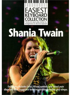 Easiest Keyboard Collection: Shania Twain Books | Keyboard, with chord symbols