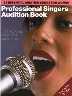 Professional Singers Audition Book Books and CDs | Piano and Voice, with Guitar chord boxes