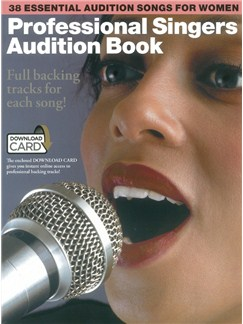 Professional Singers Audition Book (Book/Download Card) Books and Digital Audio | Piano, Vocal & Guitar