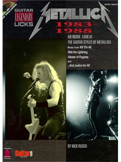 Metallica: 1983-1988 Legendary Guitar Licks Books | Guitar Tab, with chord symbols