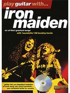 Play Guitar With... Iron Maiden Books and CDs | Guitar Tab, with chord symbols