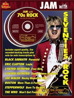 Jam With Seventies Rock Books and CDs | Guitar Tab, with chord symbols