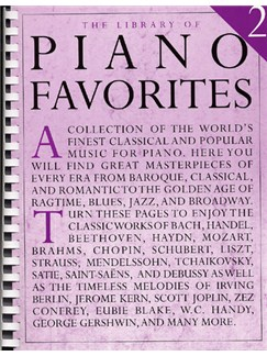 The Library Of Piano Favorites 2 Books | Piano