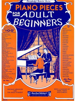 Piano Pieces For Adult Beginners Livre | Piano