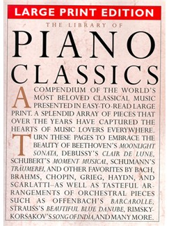 The Library Of Piano Classics Large Print Edition Books | Piano