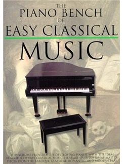 The Piano Bench Of Easy Classical Music Livre | Piano