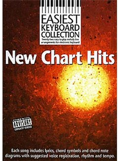 Easiest Keyboard Collection: New Chart Hits Books | Melody Line, Lyrics & Chord