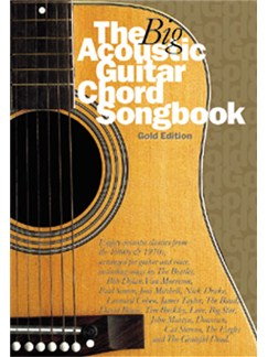 The Big Acoustic Guitar Chord Songbook (Gold Edition) Books | Lyrics and Chords, with guitar chord symbols