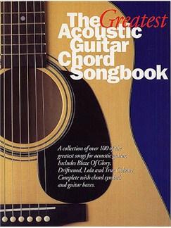 The Greatest Acoustic Guitar Chord Songbook Bog | Tekst og becifring(med grebsoversigt)