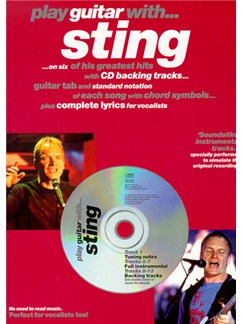 Play Guitar With... Sting Books and CDs | Guitar Tab, Melody line, Lyrics & Chord