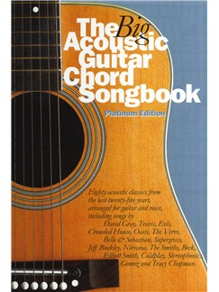 The Big Acoustic Guitar Chord Songbook (Platinum Edition) Books | Lyrics & Chords, With Guitar Chord symbols