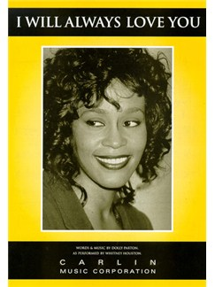 Whitney Houston: I Will Always Love You Books   Piano, Vocal & Guitar (with Chord Boxes)