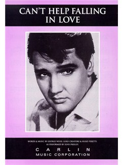 Elvis Presley: Can't Help Falling In Love Books | Piano and Voice, with Guitar chord boxes