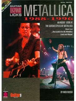 Metallica: 1988-1996 Legendary Guitar Licks Books and CDs | Guitar Tab, with chord symbols