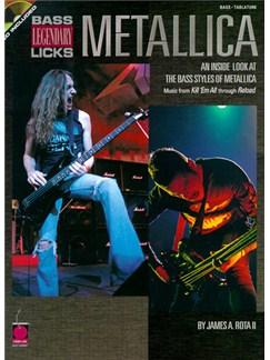 Metallica Legendary Licks Bass Books and CDs | Bass Guitar Tab