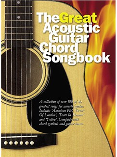 The Great Acoustic Guitar Chord Songbook Books | Lyrics and Chords