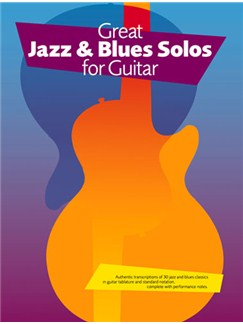 Great Jazz And Blues Solos For Guitar Books | Guitar Tab, with chord symbols
