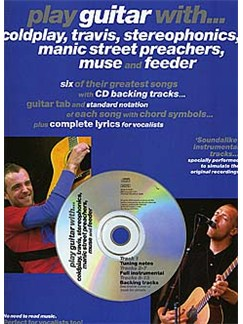 Play Guitar With... Coldplay, Travis, Stereophonics, Manic Street Preachers, Muse And Feeder Books and CDs | Guitar Tab, with chord symbols