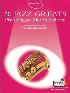 Guest Spot: 20 Jazz Greats Playalong For Alto Saxophone (Book/Audio Download) Audio Digitale et Livre | Saxophone Alto
