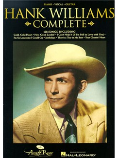 Hank Williams Complete Books | Piano, Voice and Guitar Chord Boxes
