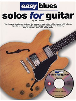Easy Blues Solos For Guitar Books and CDs | Guitar Tab, with chord symbols