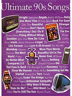 Ultimate 90s Songs! Books | Piano, Vocal and Guitar Chord Boxes