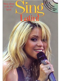 Sing Latin! Books and CDs | Melody line with lyrics and guitar chord symbols and boxes