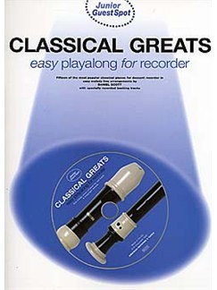 Junior Guest Spot: Classical Greats - Easy Playalong (Recorder) Books and CDs | Soprano (Descant) Recorder