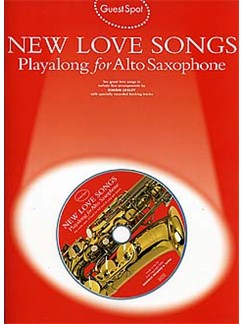 Guest Spot: New Love Songs Playalong For Alto Saxophone Bog og CD | Altsaxofon
