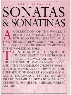 The Library Of Sonatas And Sonatinas Books | Piano
