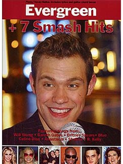 Evergreen + 7 Smash Hits Books | Piano and Voice, with Guitar chord boxes