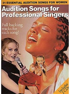 Audition Songs For Professional Female Singers Books and CDs | Piano, Vocal & Guitar (with Chord Boxes)