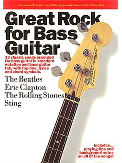 Great Rock For Bass Guitar Books | Bass Tab, with chord symbols