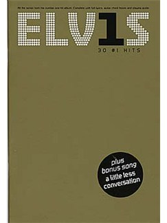 Elvis: 30 Number 1 Hits (The Chord Songbook) Books | Lyrics & Chords (with Chord Boxes)