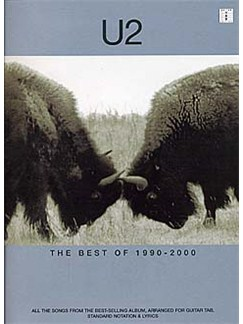 U2: The Best Of 1990-2000 Books | Guitar Tab, with chord boxes