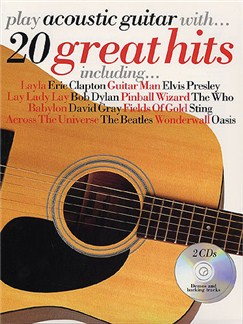 Play Acoustic Guitar With... 20 Great Hits Books and CDs | Guitar Tab