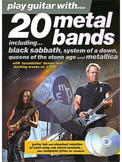 Play Guitar With... 20 Metal Bands Books and CDs | Guitar Tab, with chord symbols