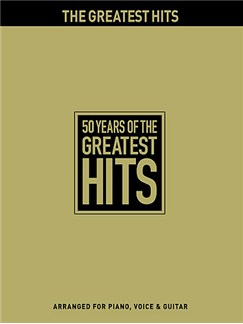 50 Years Of The Greatest Hits Books | Piano, Vocal and Guitar Chord Boxes