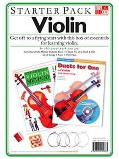 In A Box Starter Pack: Violin Books and CDs | Violin