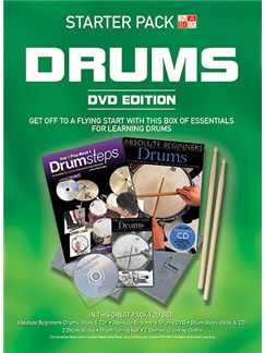In A Box Starter Pack: Drums (DVD Edition) Books, CDs and DVDs / Videos | Drums