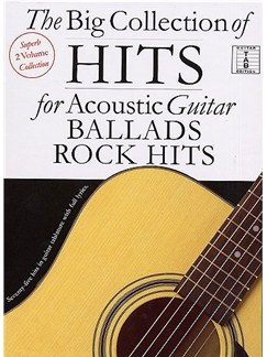 The Big Collection Of Hits For Acoustic Guitar: Rock Hits and Ballads Books | Guitar Tab