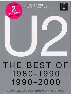 U2: The Best Of 1980-1990 And 1990-2000 Books | Guitar Tab