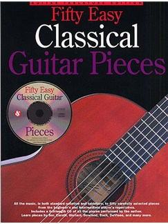 Fifty Easy Classical Guitar Pieces Books and CDs | Guitar Tab, Classical Guitar