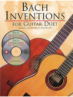 J.S. Bach: Inventions For Guitar Duet Books and CDs | Guitar Tab (Duet)