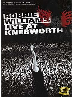 Robbie Williams: Live At Knebworth Books | Piano, Voice and Guitar chord boxes
