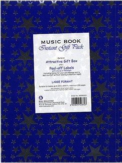 Music Book Large Instant Gift Pack: Blue  |