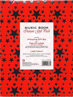 Music Book large Instant Gift Pack: Red  |