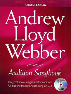 Andrew Lloyd Webber Audition Songbook (Female Edition) Books and CDs | Piano, Vocal & Guitar