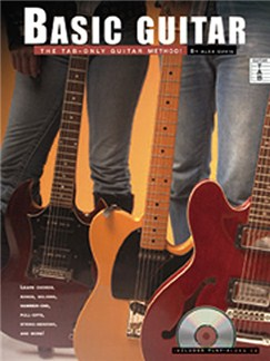 Alex Davis: Basic Guitar - The TAB-Only Guitar Method! Books and CDs | Guitar Tab