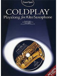 Guest Spot: Coldplay Playalong For Alto Saxophone Books and CDs | Alto Saxophone